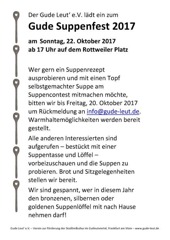 Gude Suppenfest 2017_Ankündigung